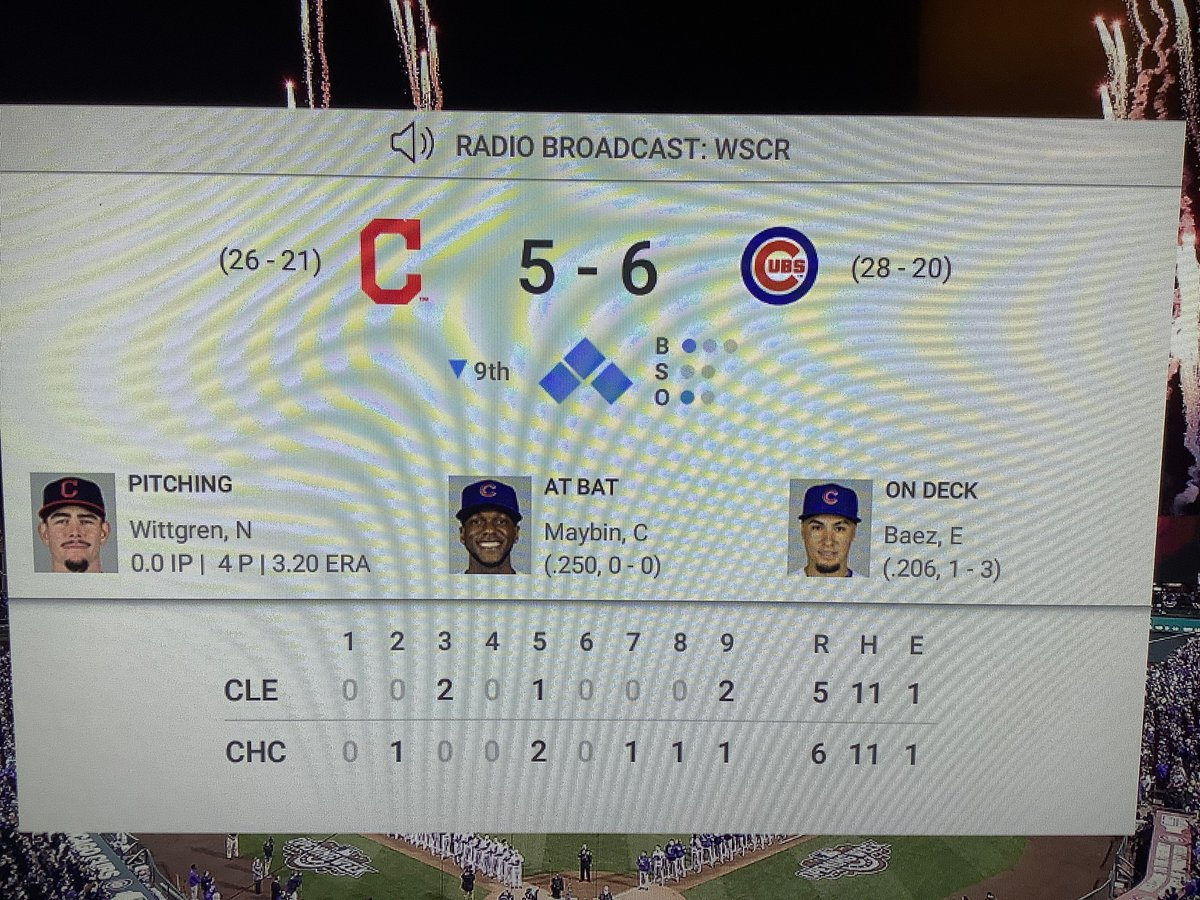 #Cubs beat the #Indians by 9th inning, bases loaded, back-to-back Cubs players Hit by Pitches! ⚾️   🤔 😳 ⚾️ #ChicagoCubs #JomBoy #Cubbies #Cleveland https://t.co/sUzrzyr4BF