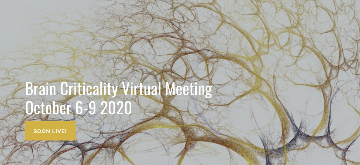 Hello world! A first tweet from @brain_crit to announce the next Brain Criticality Virtual conference. Registration free but mandatory! https://t.co/TDyEFGQ2L3