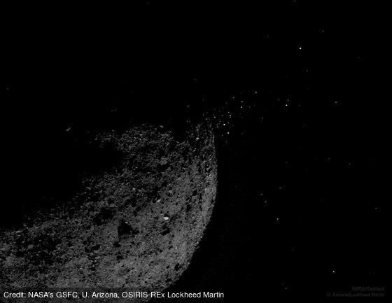 Gravel Ejected from Asteroid Bennu: https://t.co/AVhWt0Z7rI by @NASA 's GSFC, U. Arizona, OSIRIS-REx Lockheed Martin https://t.co/LR0Ci5pXAB