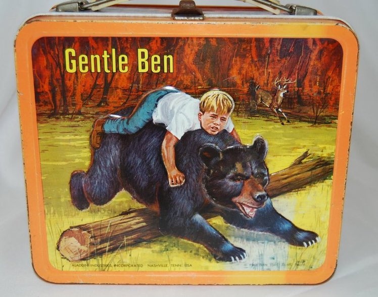 """""""We need a good idea for a new lunch box.""""   """"How about Clint Howard having prison sex with a bear?""""   """"Love it, but also give me a deer in the background.""""  """"Anything else?""""  """"Make it look like a hellscape."""" https://t.co/oXff94u2No"""