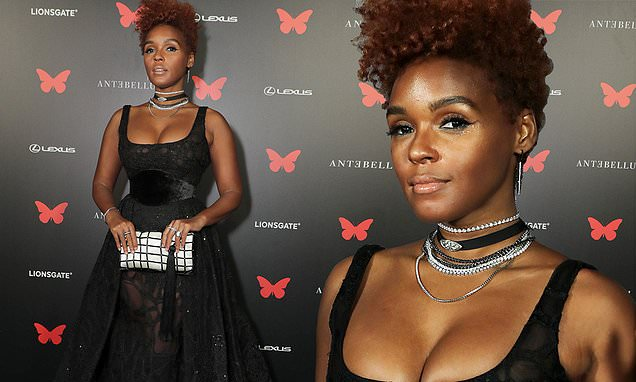 janelle-monae-stuns-in-sleeveless-black-gown-at-drive-in-screening-in-la-for-horror-movie-antebellum Photo