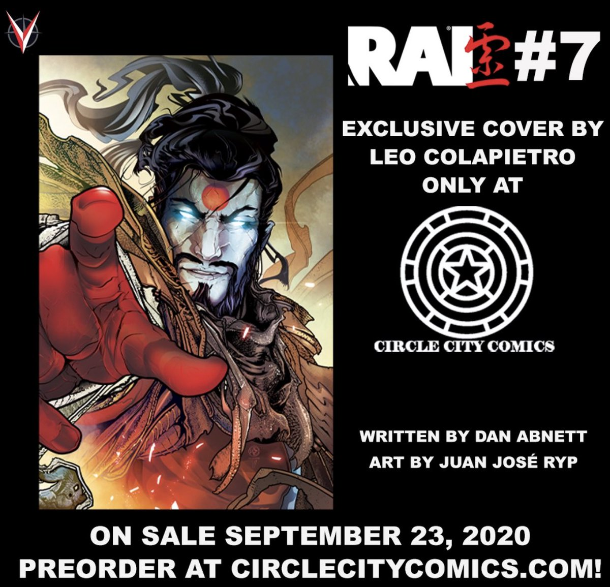"Preorder options open now at https://t.co/rQdZNhAm9d search  ""Rai (2019) #7""  - #raw #graded #singles and #bundles available for this amazing @ValiantComics series and this stunning @LeoColapietro cover! #limitedto 350 & 150 print runs! #rai #bloodshot #shadowman #VALIANT https://t.co/SS7VF3Lyx5"