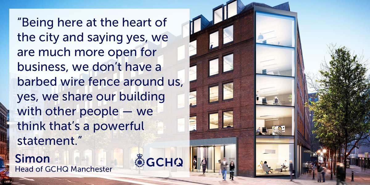 We recently invited the @FT to our new office in the heart of #Manchester 🗞 Head of our Manchester office, Simon told how we'll mentor tech start-ups and work with local businesses and academia whilst continuing our vital mission to keep the UK safe ⬇️ ft.com/content/36ffac…