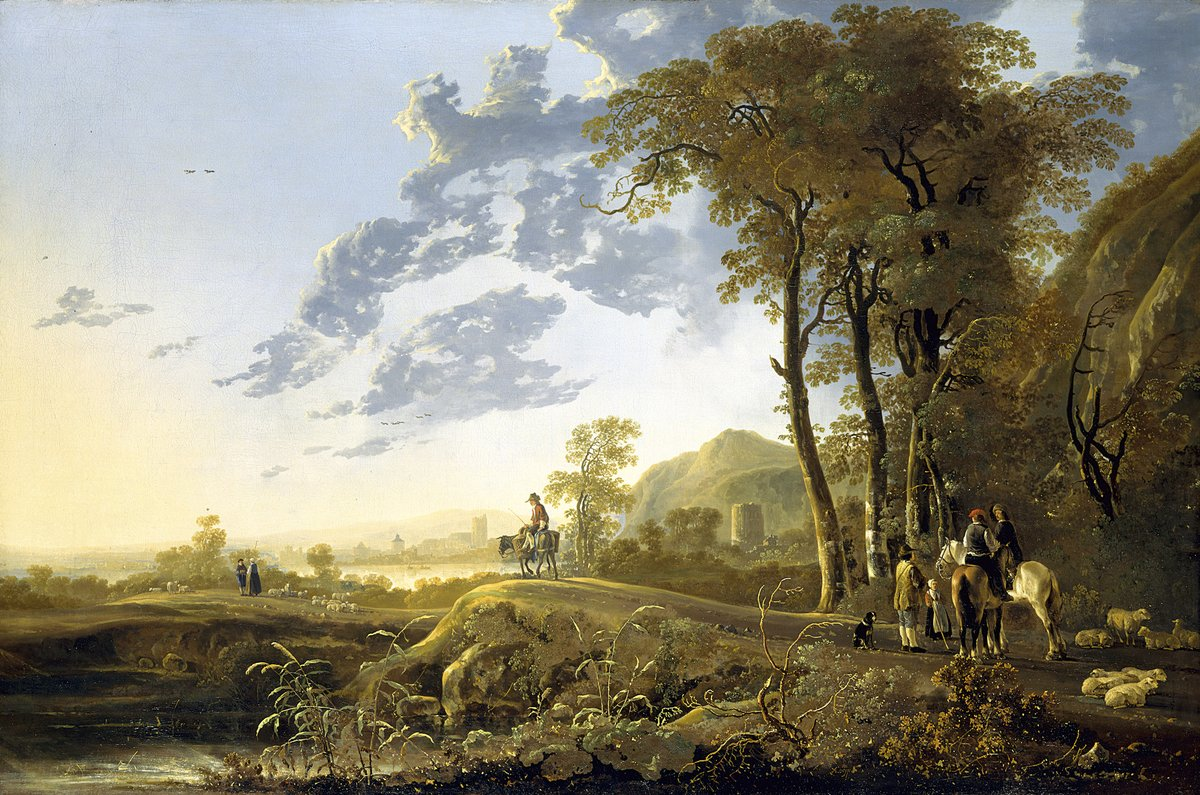 Good question! Kathryn thinks it's hard not to look at this Cuyp landscape without feeling calm. It's so serene. #AskACurator rct.uk/collection/405… twitter.com/anabelroro/sta…