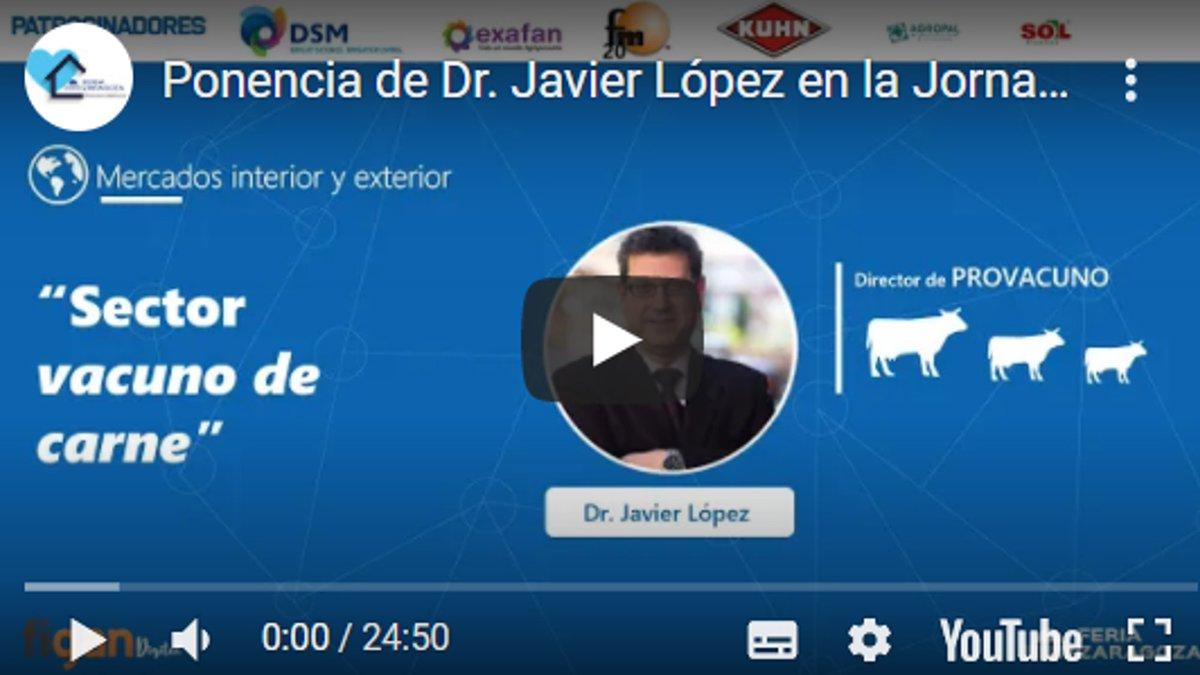 """No te pierdas la ponencia del Dr. Javier López,Director de @Provacuno donde nos habla de la actualidad y evolución de los mercados del VACUNO DE CARNE 👉https://t.co/W4e7J9ZTPh .Grabación de la Jornada Técnica Online""""Perspectiva de los mercados pecuarios"""". @feriadezaragoza https://t.co/IGAxgs4GRJ"""