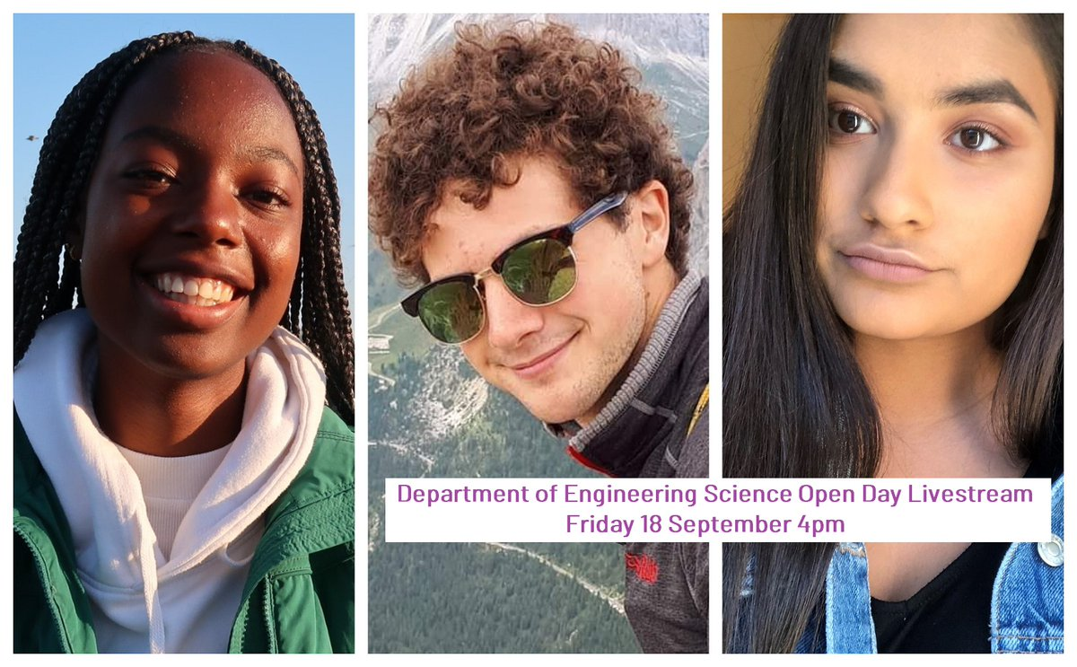 Confused about Uni? Not sure which course to choose? Chat to students in our #OxOpenDay Livestream tomorrow. Find out the answers to all your questions about the Engineering Science course & what it's like to study @UniofOxford https://t.co/08xJYTEHFc #WhyEngineering #StudyEngSci https://t.co/9PuW6xMmOJ