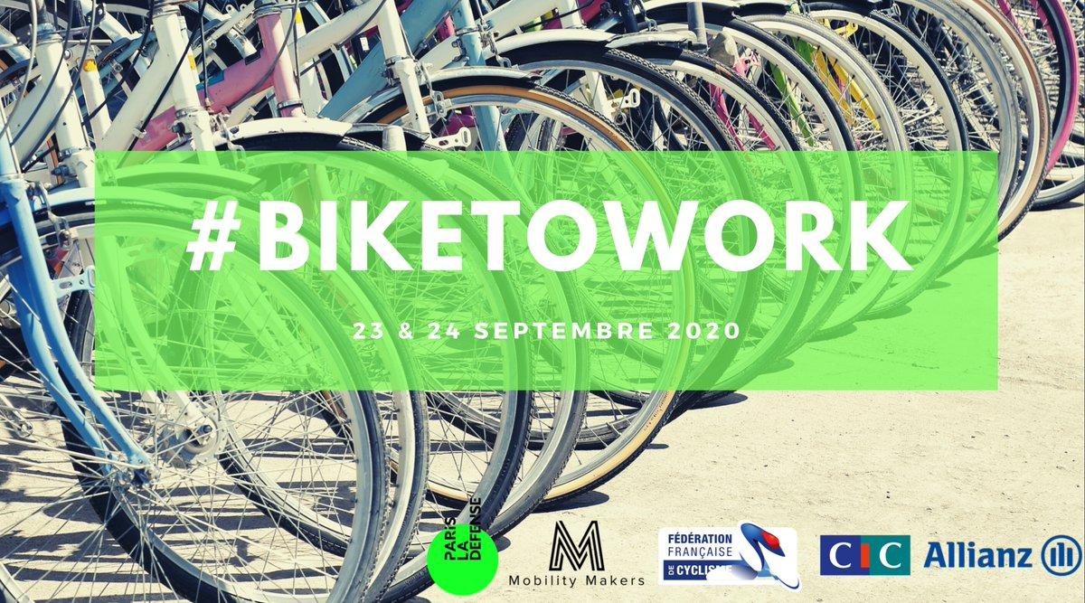 #événement    iweech sera présent lors du salon  #biketowork ! Retrouvez-nous à #parisladéfense les 23 et 24 septembre.   C'est l'occasion de venir essayer notre  super #smartbike 😉 On vous attend ! 🚲 https://t.co/8dfUhdyAXG