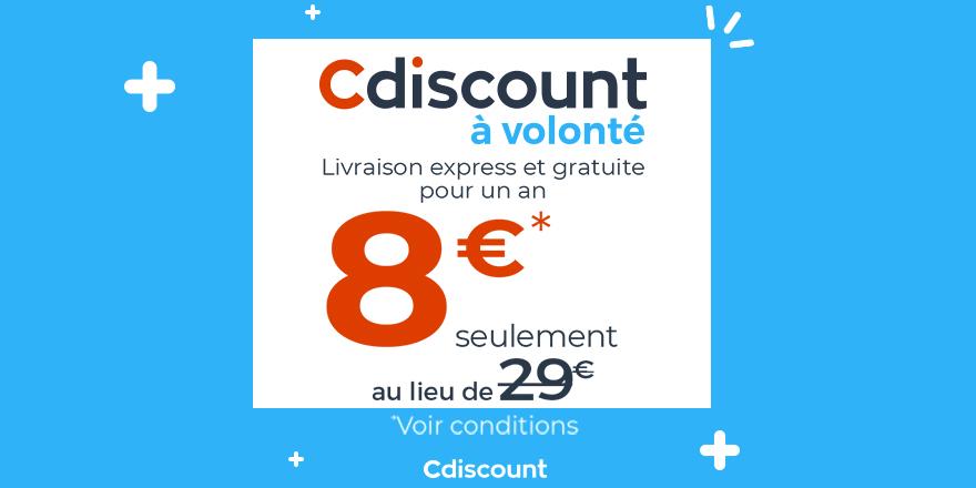 🔥 Cdiscount à Volonté passe à 8€ au lieu de 29€ ▶️ https://t.co/JAMzp6FmCL  ✔️ Livraison express et gratuite pendant un an et bien d'autres avantages  ⚠️ Seulement jusqu'au 18/09 https://t.co/CbkPMs2DJz