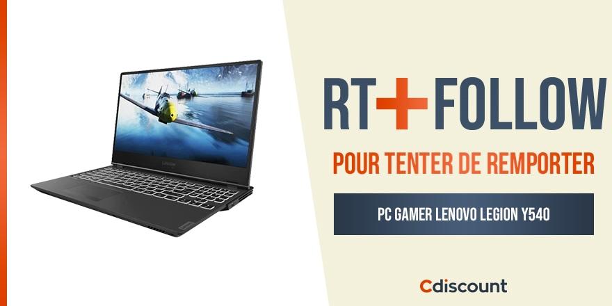 🎁 #Concours   On vous fait gagner un PC gaming Lenovo Legion Y540 : https://t.co/1yM46QMGhL  Pour tenter de le remporter :   🔸 RT ce tweet 🔹 Follow @Cdiscount  ⏰ TAS 21/09 https://t.co/4lhQEbRfHK