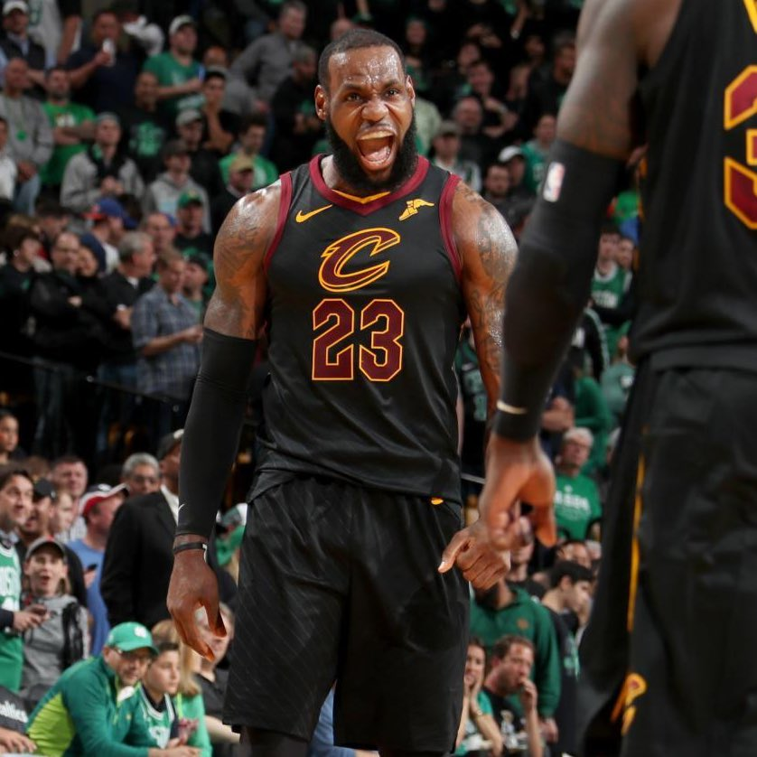 Last time LeBron played a game 7: 35 points 15 rebounds 9 assists 2 blocks 50% shooting And the and-one dagger.