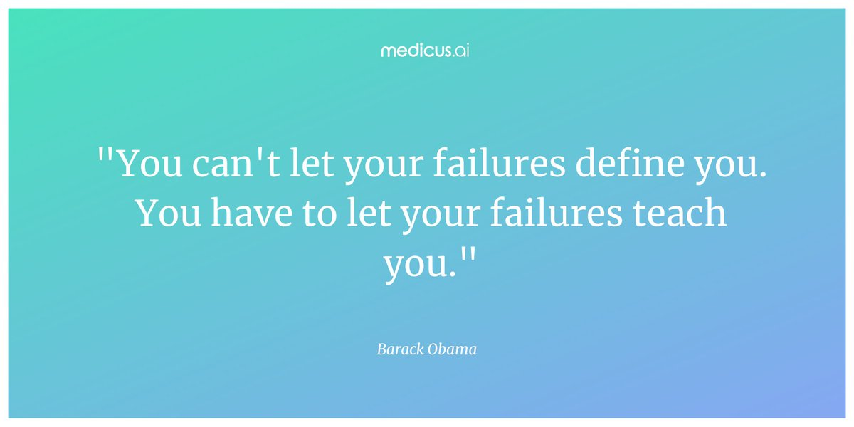 """""""You can't let your failures define you. You have to let your failures teach you."""" – Barack Obama  #wednesdaywisdom #wednesdaythoughts #wednesdaywords #quote #quoteoftheday #wisewords https://t.co/URCZXeBKVY"""