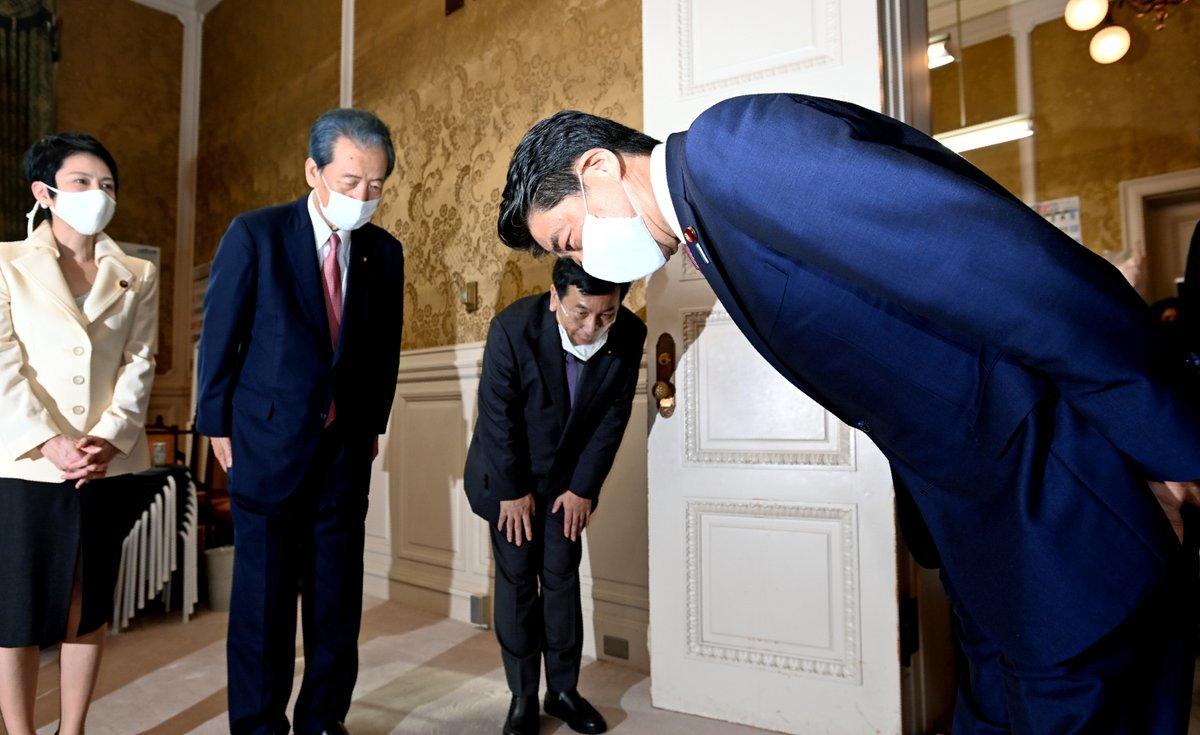 安倍晋三前首相は立憲民主党にも退任のあいさつに訪れました。【菅内閣発足へ】 #菅義偉 #菅内閣 #菅政権