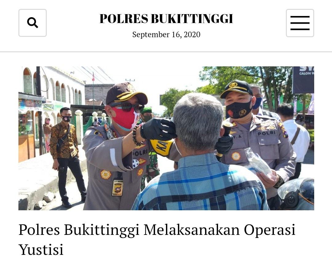 RT @Humas_Res_Bkt: Operasi Yustisi Polres Bukittinggi #DisiplinWajibMasker https://t.co/DWp2qYhKHU