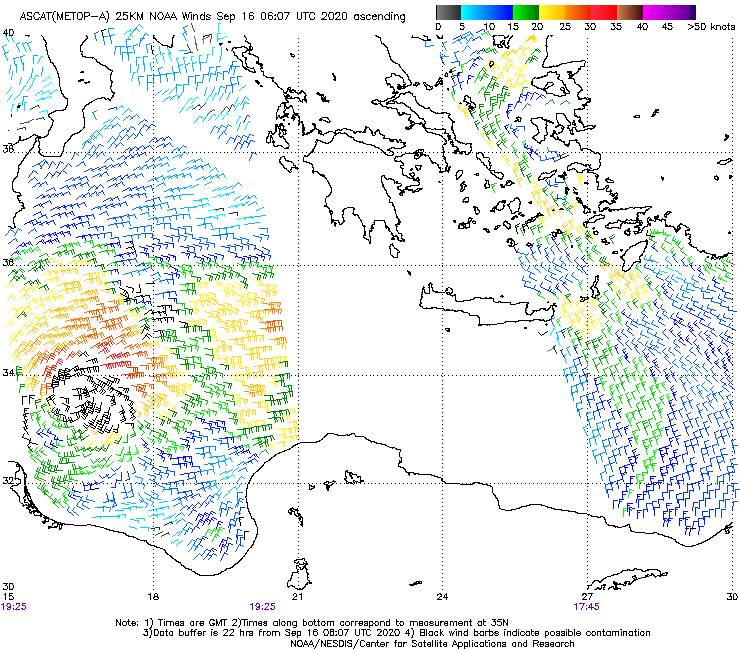 @EMY_HNMS Surface Wind from Advanced Scatterometer (ASCAT METOP-A)