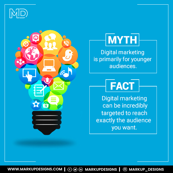 Businesses are successfully implementing digital marketing tactics to effectively reach their target consumers online.  Follow us to know more myths and the truth about Digital Marketing!!  #mythbusters #bustingmyths #mythandfact #digitalmarketing #taregaudience #MarkupDesigns https://t.co/4XNocm8aq1