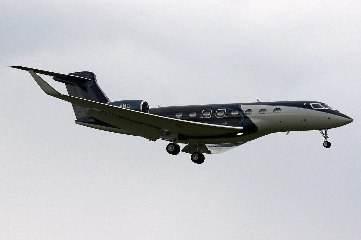 Hoy tiene previsto operar de nuevo en @flytovigo este G650 (17:00Z). @AeronoticiasVgo @LevxVigo @Juli0_Albert0 @Belero_fonte @MargotAB @fidelove 📸Rolf Nyffeler https://t.co/IlPg8GkINW
