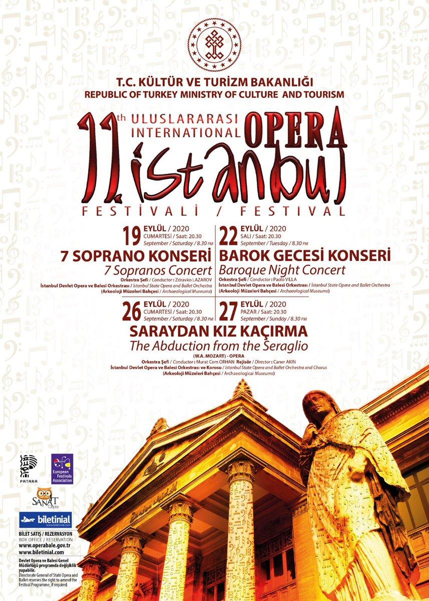 11. Uluslararası İstanbul Opera Festivalimiz aldığımız tüm önlemlerle sanatseverlerimizle buluşuyor.  Festivalin ilk etkinliği 19 Eylül akşamı Arkeoloji Müzelerimiz bahçesinde 🎶   @devletoperabale  @idobaleistanbul https://t.co/0RsaymvWak