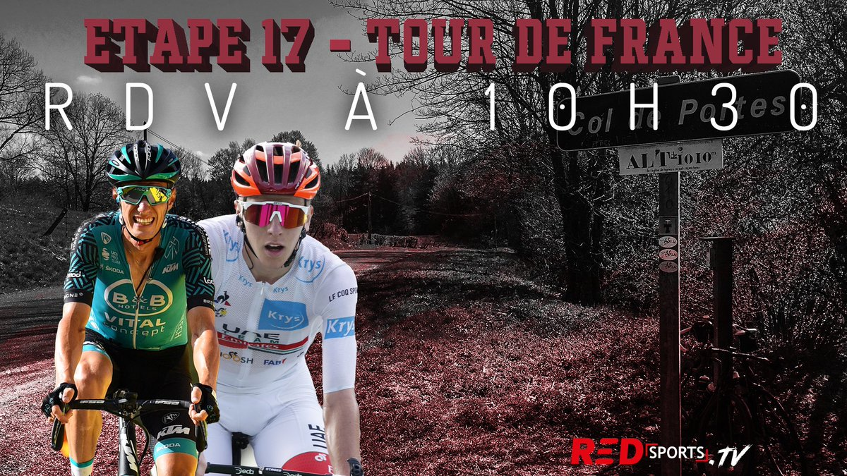#REDsportsTV 💥  🔥#TDF2020, jour 2 🚴‍♀️ !   🎥 @maestro_tips  @pronoland_ @gilleslouks   vous donne rendez-vous à 10h30 pour analyser l'étape reine du tour de france  https://t.co/DofzqyaTSH https://t.co/M8mAr1codz