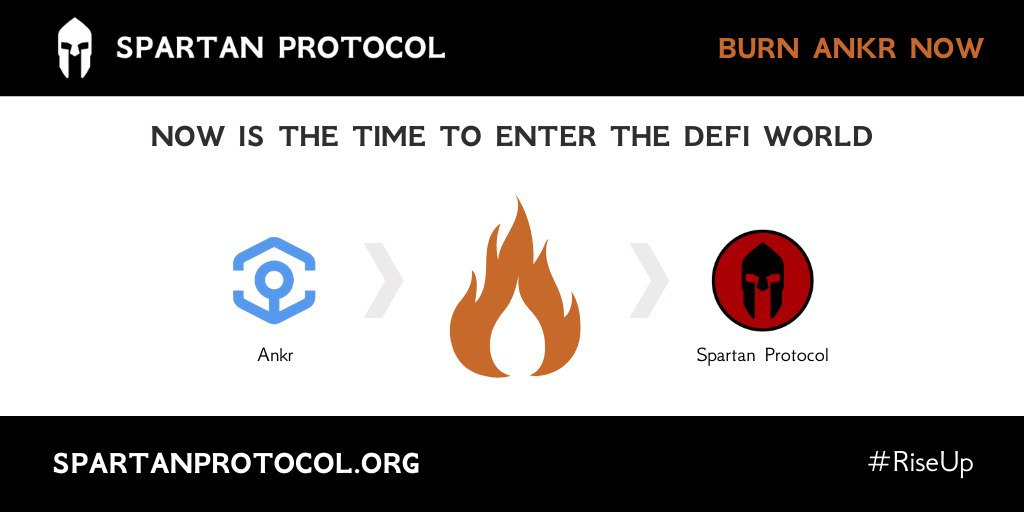 Get $SPARTA tokens by burning 🔥 $ANKR BEP20 tokens $ANKR BEP20 for #Binance Smart Chain available for withdrawal on @binance soon