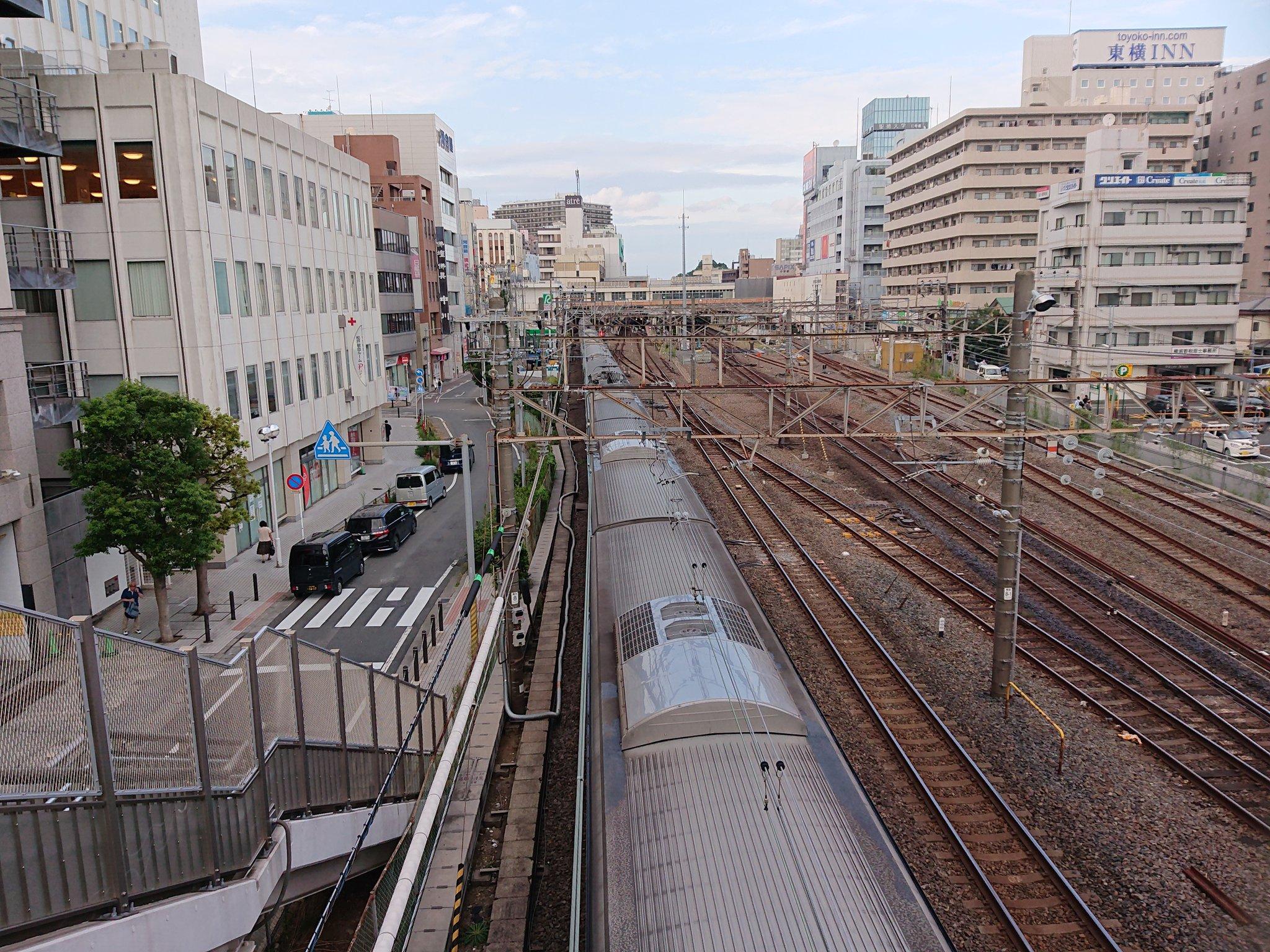 常磐線の松戸駅で人身事故が発生した現場の画像