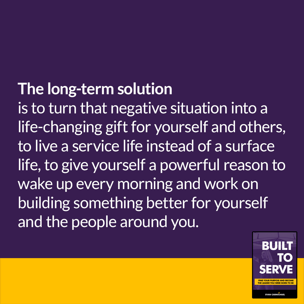 The long-term solution is to turn that negative situation into a life-changing gift for yourself and others ______________________________________  #entrepreneur #personalbranding personaldevelopment https://t.co/2wkBQhHw7i