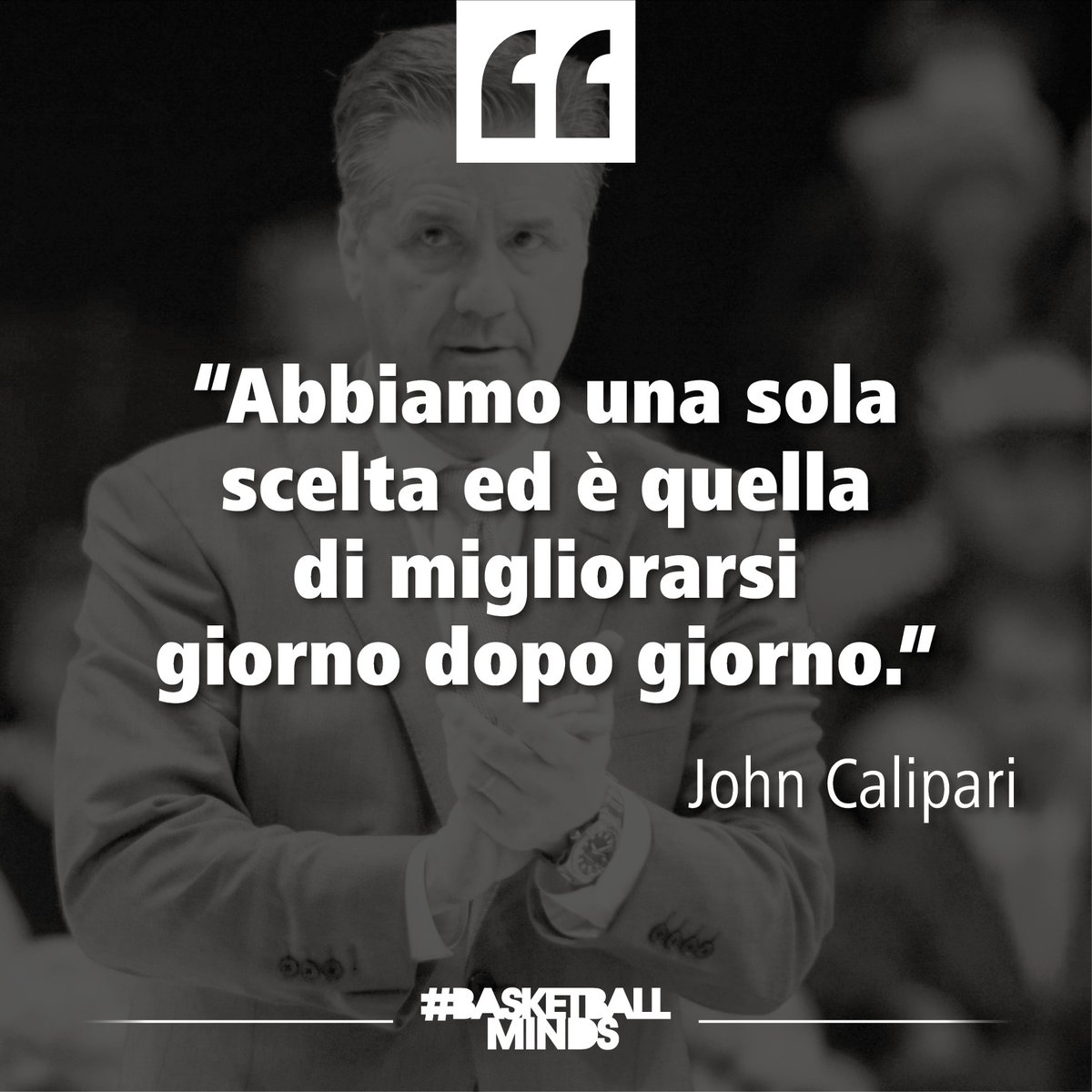 Una sola scelta!  #WednesdayQuotes #BasketballQuotes #JohnCalipari https://t.co/JHUixeNXWA