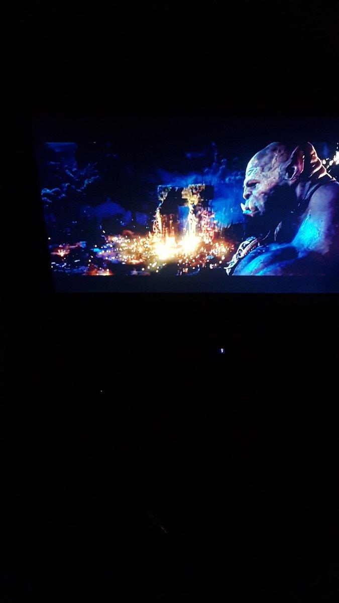 warcraft movie for the night . pomarie whanau