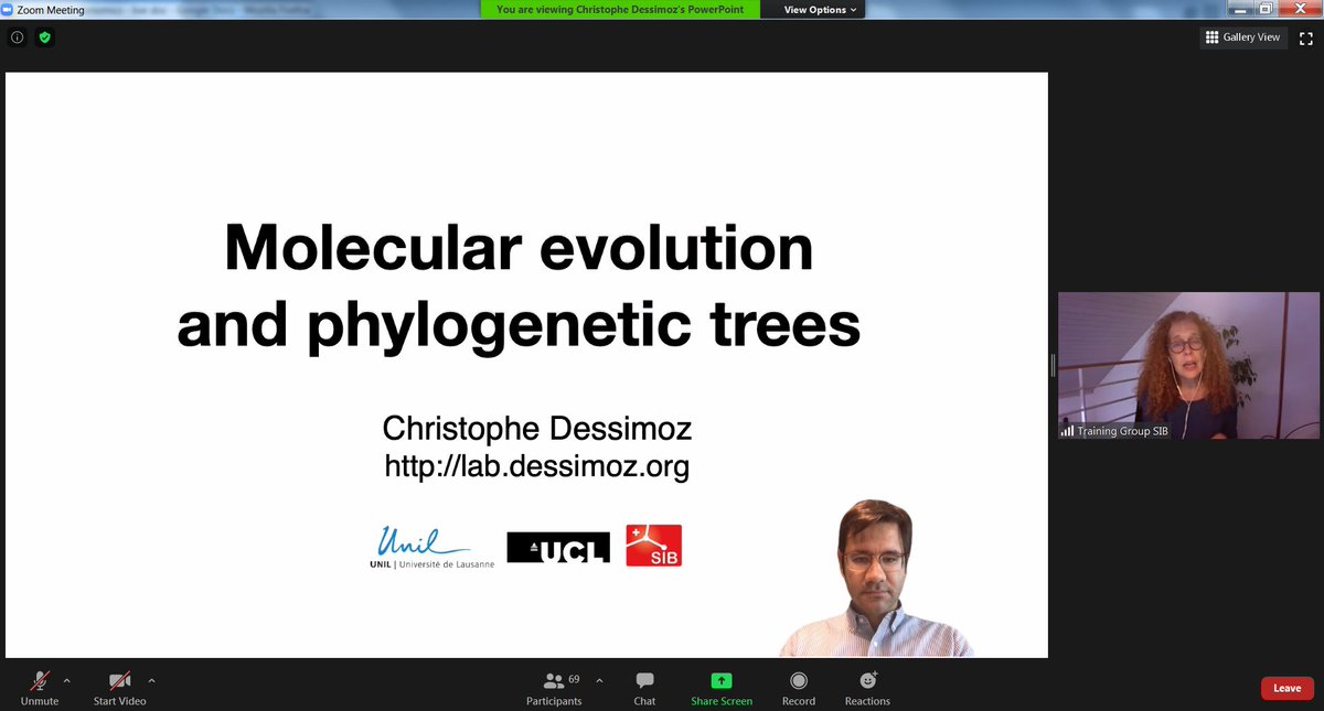 @marc_rr @ISBSIB @cdessimoz @rmwaterhouse We are starting today the @ISBSIB Comparative #Genomics course, with the lectures from  @cdessimoz on #molecular #evolution, #phylogenetics, #orthology #paralogy, followed by hands-on w/ @OMABrowser. @DessimozLab https://t.co/RQiMsTYmnH