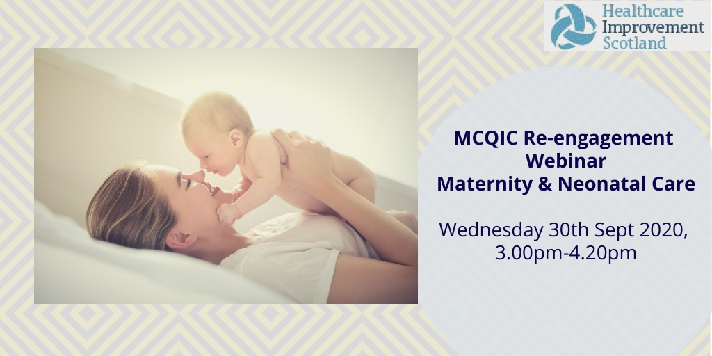 Registration now open! 🎉 MCQIC Re-engagement Webinar Maternity & Neonates on 30 September https://t.co/u3VZTk30KT  @online_his @MaternitySPSP @NeonatalSPSP https://t.co/4sZOlGdcLO