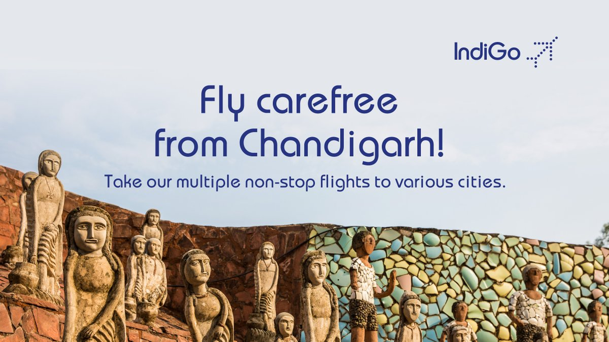 Fly non-stop from the beautiful city of Chandigarh! Choose from a range of 6E flight options that we bring, exclusively for you! Book now https://t.co/6LBHOiVU20 #LetsIndiGo #Aviation #Chandigarh https://t.co/ul0mLH5D4z