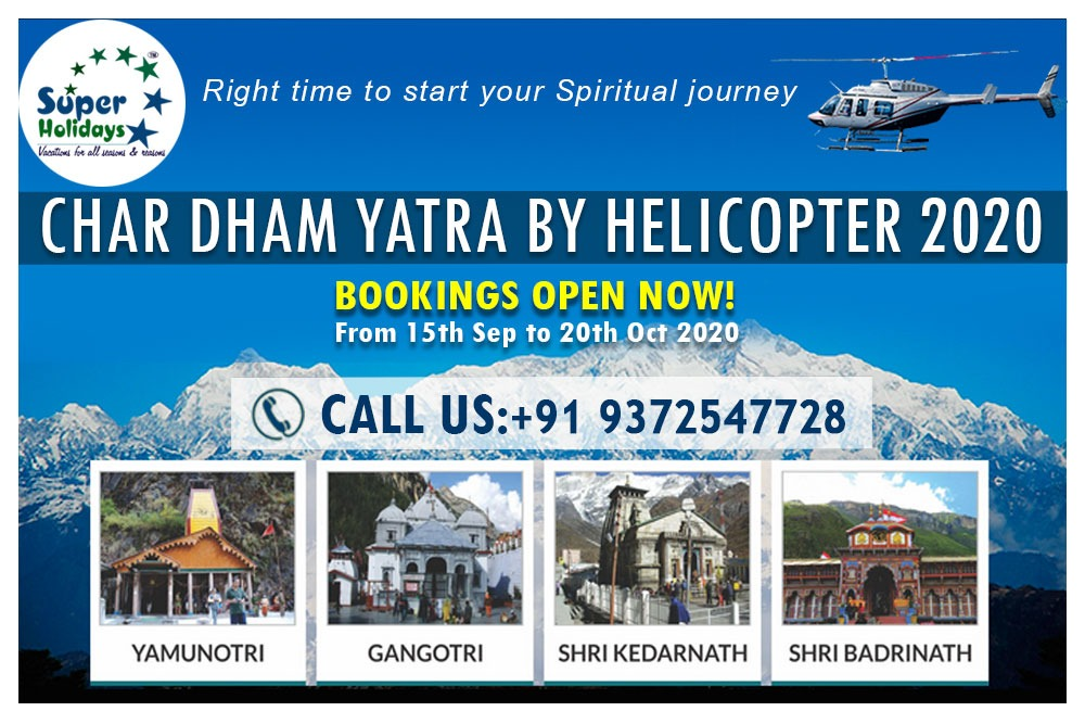 """Embark on the journey to the abode of Gods with """"Yatra to Char Dham"""".  Book Luxury Chardham Yatra by Helicopter 2020 with Highest Safety Standards. All Inclusive - Royalty and GST, Darshan, Stay, Meals, and Transfers. Book Now.🙏🙏🔱 . #kedarnath #Badrinath #yamunotri #gangotri https://t.co/0ywKnylyTR"""