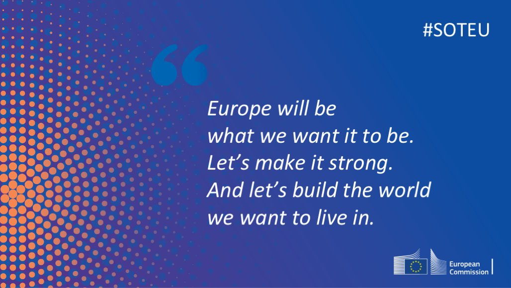 Let's get to work for it. 🇪🇺🇪🇺🇪🇺 #SOTEU