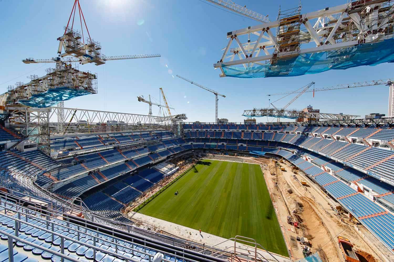 El Real Madrid sigue trabajando en las obras del Bernabéu.