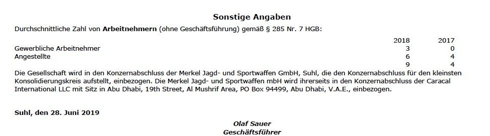 Die Zahl der Mitarbeiter der Firma C.G.Haenel, die das neue Sturmgewehr der Bundeswehr liefern soll, sei