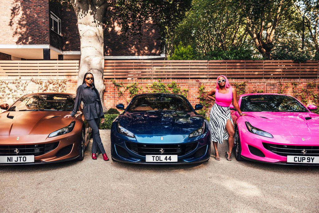 Papa took us shopping and bought one of each! 💕💨 #FerrariPortofino #CuppyDat