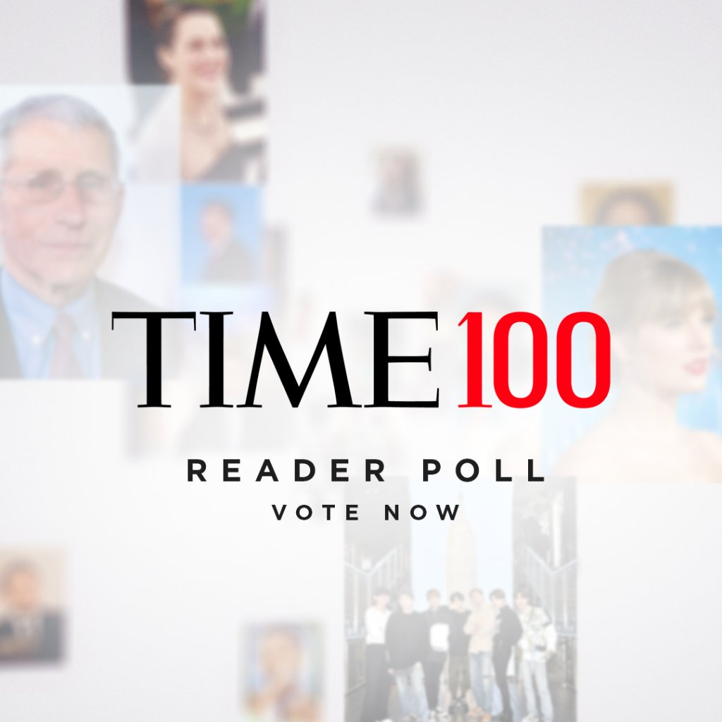 Who should be on the 2020 #TIME100 list? Cast your vote for the people who have had the greatest influence this year https://t.co/4dZOJoRb74 https://t.co/mq77Gy0dA7