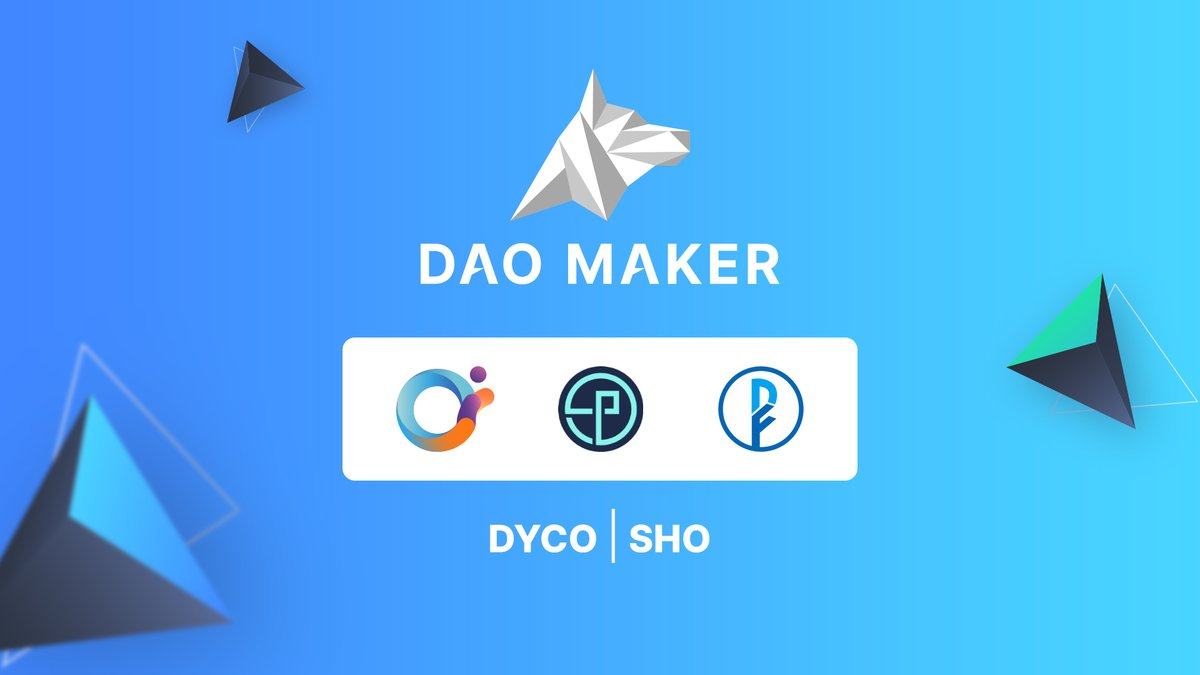 DAO Makers SHO/DYCO #fundraising frameworks were presented to the #crypto world just a few months ago. We are doing our best to select the best projects with the biggest long-term potential to supply them with funding and reliable #community. $ORN $OPT #DeFiner