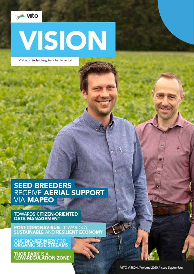 On the cover our brand new #VITO #VISION!🤩  Maarten Vanderstukken, Project Manager Breeding @sesvanderhave, and our very own @J_Decloedt about the use of #drones & #MAPEO to monitor trial fields for #seedbreeding and upscale the #phenotyping!  Read more ➡️https://t.co/aE8VmZsKCS https://t.co/twxJZCTkuW