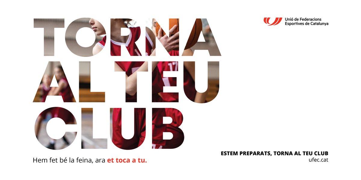 ⚠️Inici campanya 'Estem preparats. Torna al teu club'  ✅Federacions i clubs han fet la feina perquè l'esport sigui un espai segur  💪Ara et toca a tu. Torna al teu club  📢Fes-ne difusió  Info👇 https://t.co/uNBynqSFv0   #somesport #federacions #clubs #esportcat #TornaAlTeuClub https://t.co/2Js7Nb4Vwy