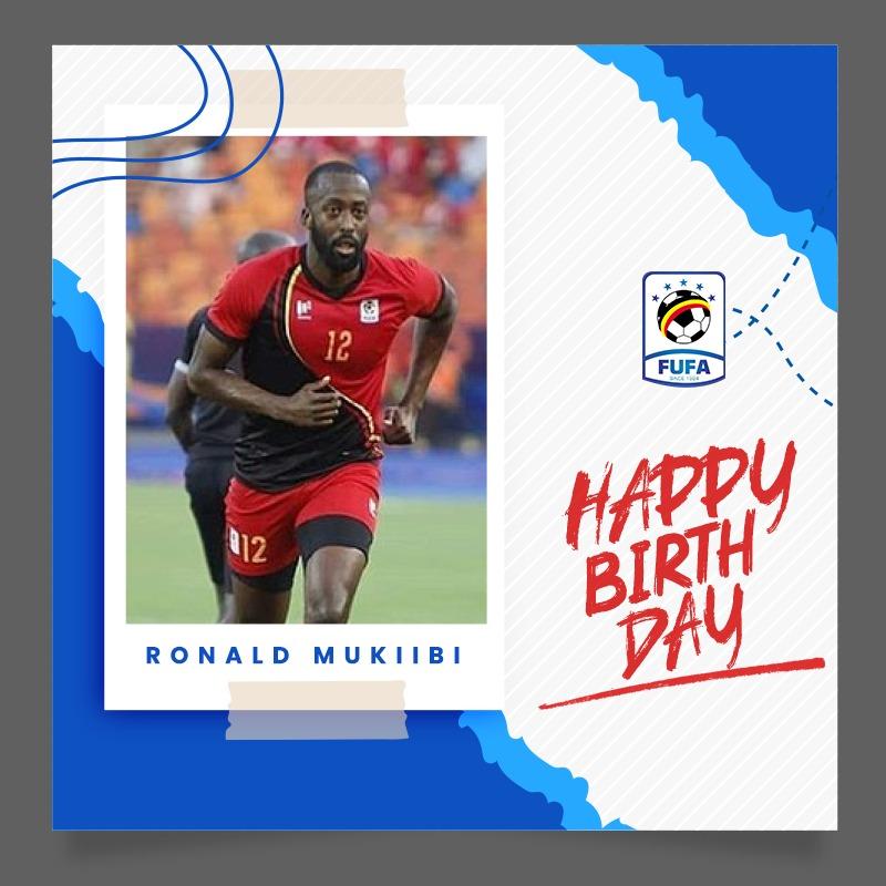 Happy Birthday to @UgandaCranes & @ofk_1996 defender Ronald Mukiibi 🎊🎉.  #FUFAUpdates https://t.co/dJReB0WVTR