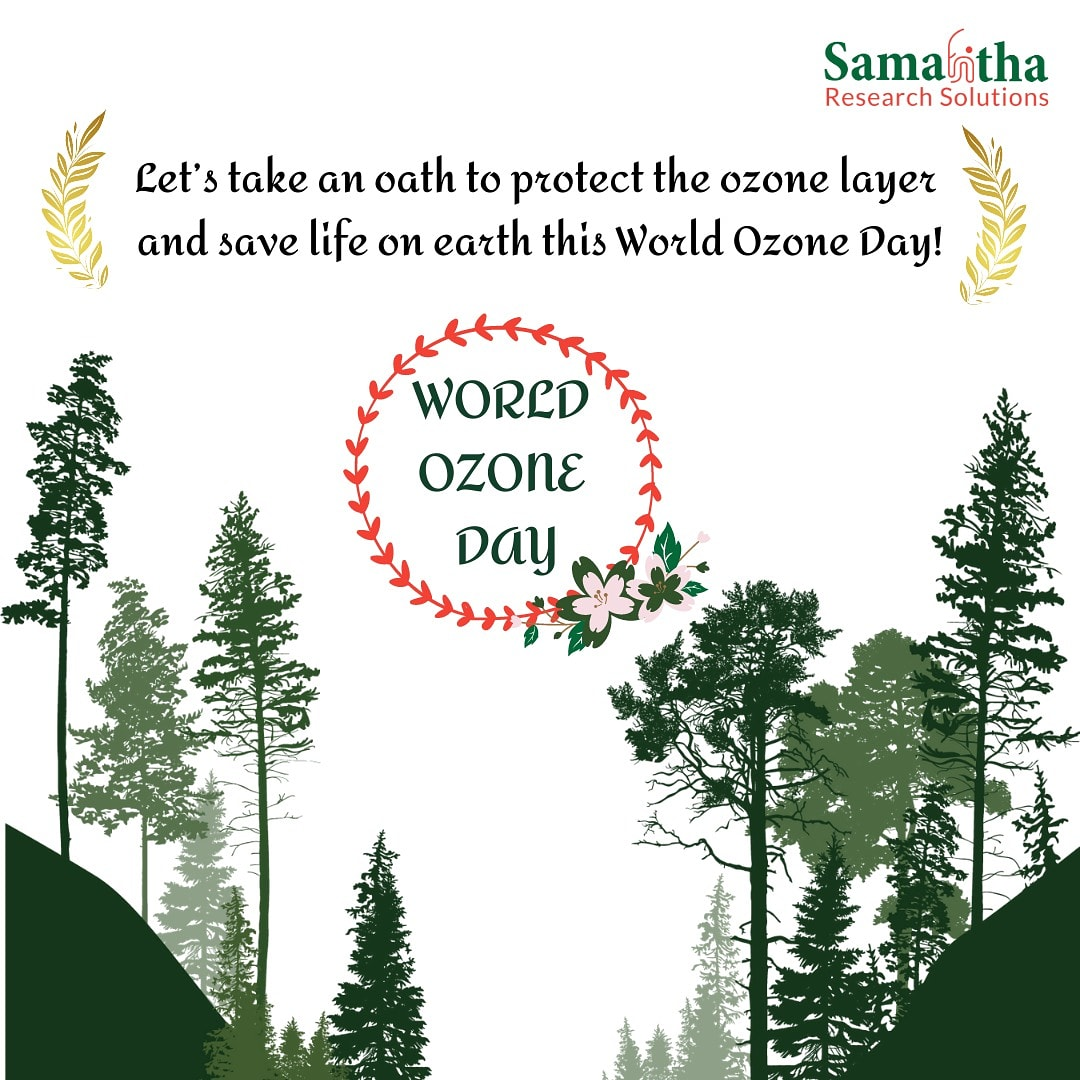 On the Occasion of the #WorldOzoneday let's be cautious towards the future and take an oath to protect the ozone layer!  #samahitharesearchsolutions #TimeForNature #Biodiversity #save_nature #GoGreen #clinicalresearch #cro #sitemanagement #innovation #cdm #ourteam #ourpride https://t.co/rwukSDtxB1