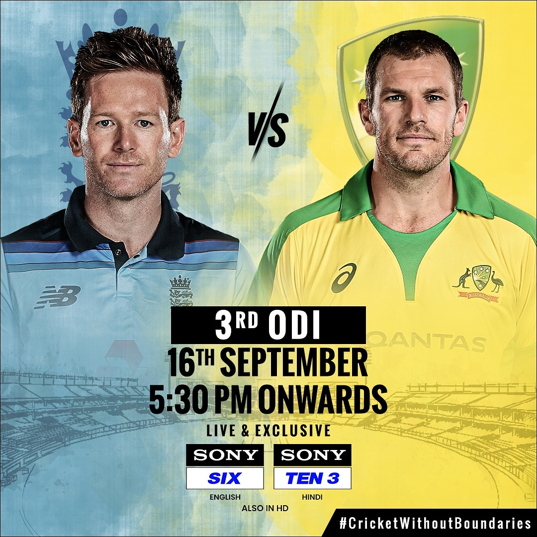 Just few hours away from the SERIES DECIDER ⏳🏏  Will it be England or Australia today? 🤔  Watch #ENGvAUS final ODI 🏟️ 🗓️ Today 🕠 5:30 PM onwards 📺 Sony SIX (English), Sony TEN 3 (Hindi)  #AsliCricketFan #CricketWithoutBoundaries #SonySports #SirfSonyParDikhega #Cricket https://t.co/SCzaIkEquN