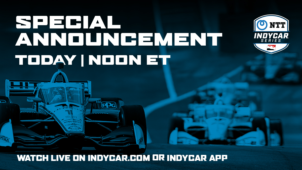 We've got a special announcement coming up in 15 minutes that you won't want to miss. Stream it live on https://t.co/wi46BJCrb3 or on the #INDYCAR App.   https://t.co/wi46BJCrb3: https://t.co/lX9ZIV4grw INDYCAR App: https://t.co/vKDGlWReFn https://t.co/oJgRVjd7Td