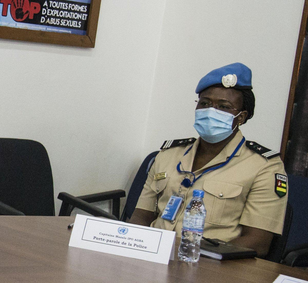 Des activités de formation de la police et la gendarmerie centrafricaines vont être menées à Bangui & les préfectures dans le cadre de la sécurisation des élections - porte-parole #UNPOL #MINUSCA, Cap. Mazalo Agba. Le 1er atelier a eu du 9 au 11/9 avec l'appui de la Mission #A4P https://t.co/PFNIZrsPDa