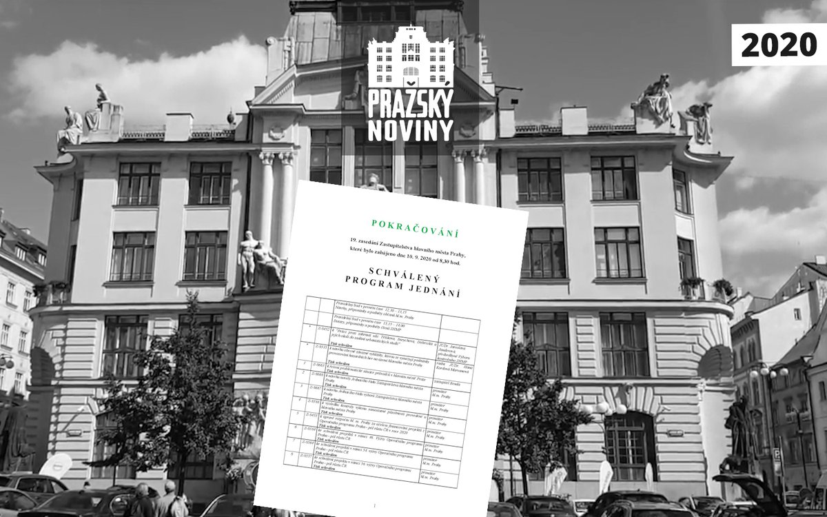 PRAHA: NÁVRH PROGRAMU JEDNÁNÍ – 19. ZASEDÁNÍ ZASTUPITELSTVA HLAVNÍHO MĚSTA PRAHY – POKRAČOVÁNÍ  19. jednání Zastupitelstva hlavního města Prahy pokračuje ve čtvrtek 17. září 2020…  https://t.co/gxbc9UQwZK https://t.co/1E1Kr74Ki6