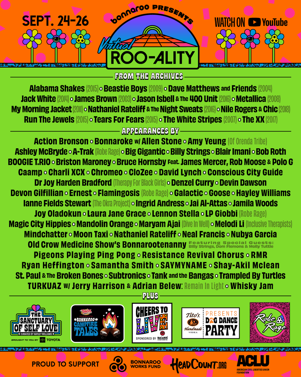 The last gig…  The last Beastie Boys performance will stream as part of Virtual ROO-ALITY, a free 3-day broadcast featuring archival @Bonnaroo sets, new performances and more: https://t.co/JqXNPJv0WA  Stay tuned for more info. #VirtualRooality https://t.co/rlMMjultw5