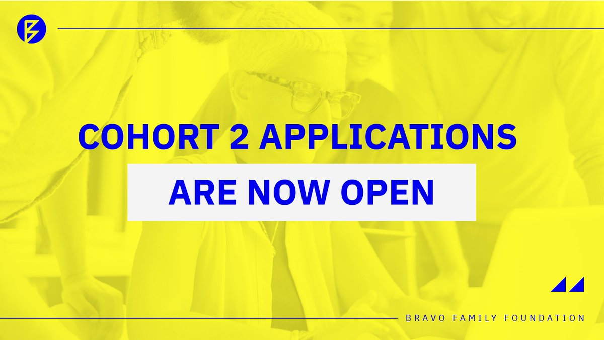 We're excited! Cohort 2 applications are now open. All #RisingEntrepreneurs are welcome!   Access this link:  to fill out the application form.  Looking forward to it! #BravoFamilyFoundation