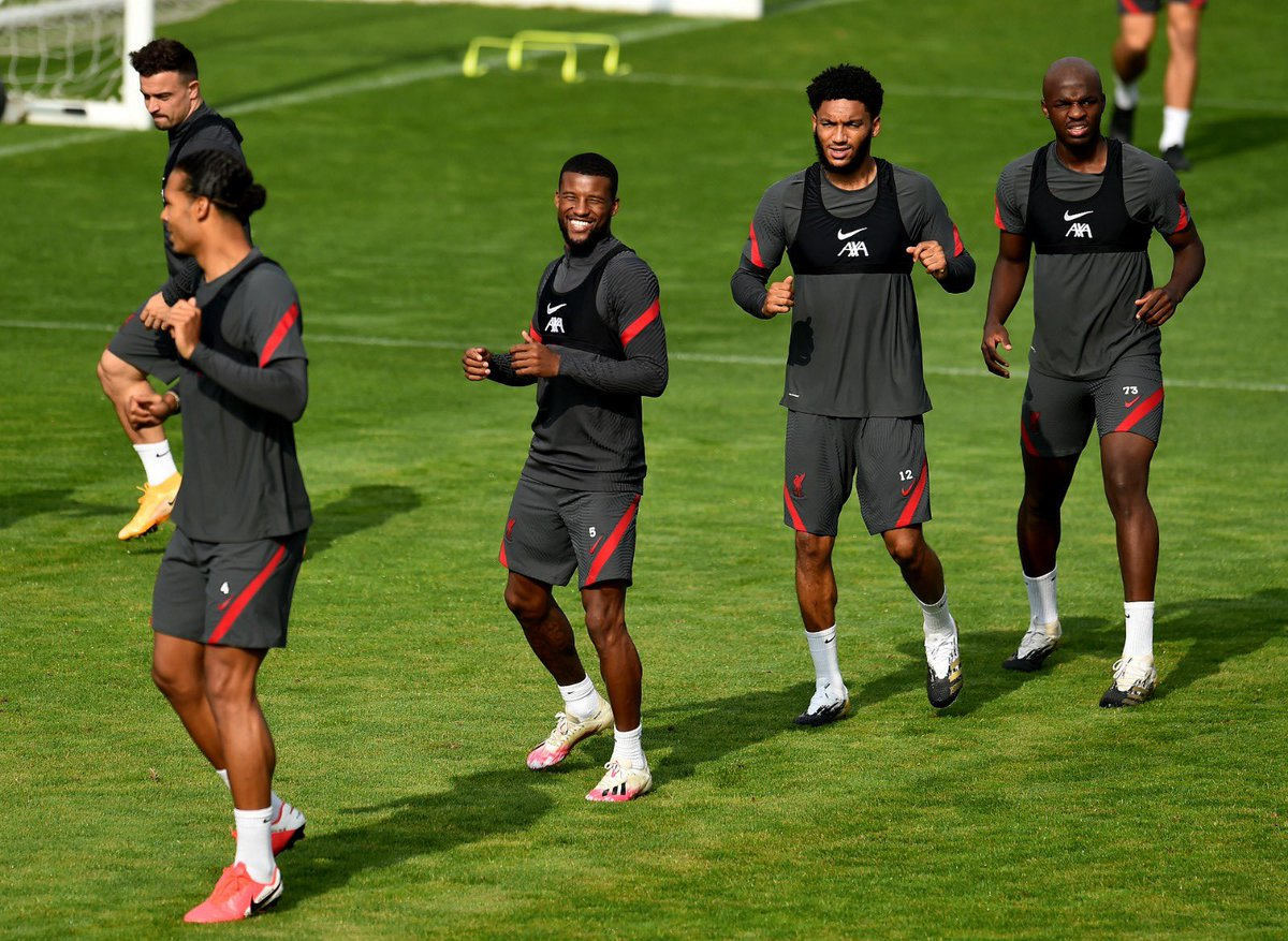 Back at it with the boys at #Melwood 🔴⚽ https://t.co/Q734fKKT0J