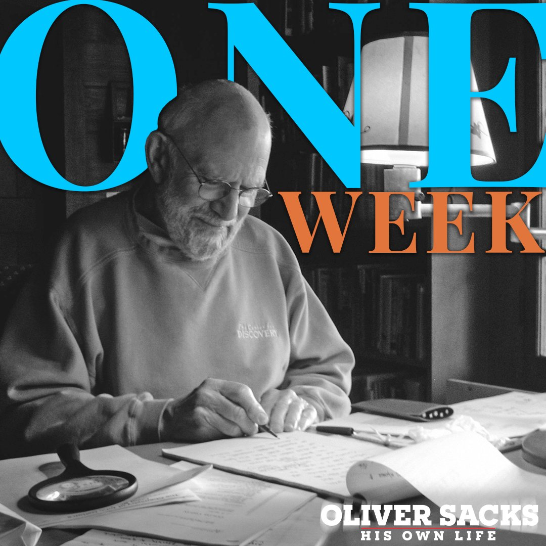 We're just one week away from the US virtual theatrical release of #OliverSacksDoc, about the beloved doctor and writer. We couldn't be more excited!   🌟 Check out the full list of theaters you can support while watching it from home. ➡️ https://t.co/Jso5MTQeTQ https://t.co/dO7pKg1aSr