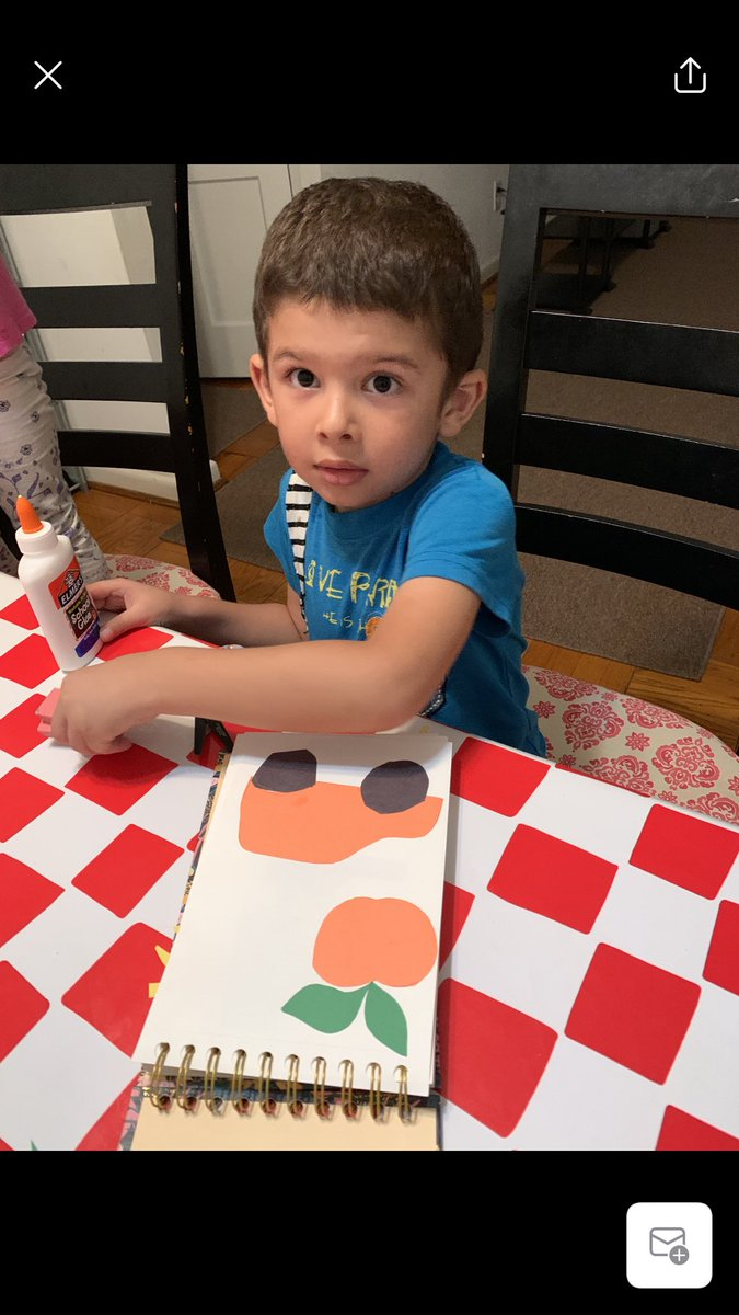 We learned how to tear paper to make shapes in <a target='_blank' href='http://twitter.com/PlatzArtClass'>@PlatzArtClass</a> today! Muhammad also practiced cutting shapes w/scissors. Check out his artwork! <a target='_blank' href='http://twitter.com/BarrettAPS'>@BarrettAPS</a> <a target='_blank' href='http://twitter.com/kaykhusrav2017'>@kaykhusrav2017</a> <a target='_blank' href='https://t.co/w0NJLNvip8'>https://t.co/w0NJLNvip8</a>
